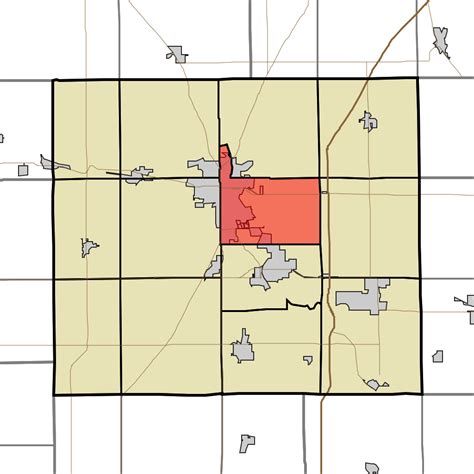 map of grant county indiana file map highlighting center township grant county