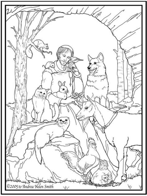 coloring book pages st day st francis of assisi coloring pages for catholic