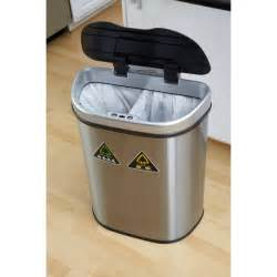 ne motion sensor slim touchless 13 gallon trash can