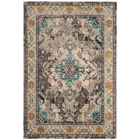 10 Ft Gray Blue Rugs by Unique Loom Monaco Gray 8 Ft X 10 Ft Area Rug 3134093