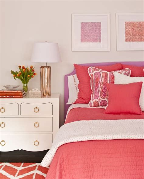 coral color bedroom phoebe howard beautiful pink and purple big girl s room
