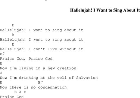 Hallelujah I Want To Sing About It Christian Gospel
