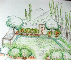 drawing abruzzi school garden