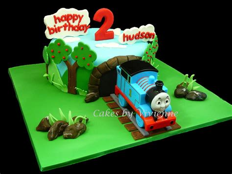Engine Decorations by The Tank Engine 2nd Birthday Cake Cakecentral
