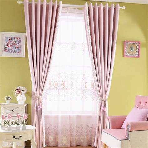 elegant bedroom curtains pink print patterned linen cotton blend elegant bedroom