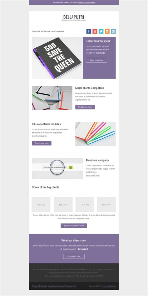 Email Newsletter Template E Mail Design Inspiration Pinterest Email Template Design Email Templates For Web Designers And Developers