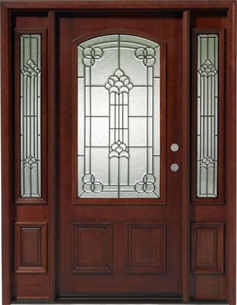 solid wood mahogany camber top with sidelights exterior