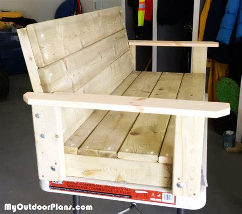 2x4 woodworking projects diy 2x4 swing myoutdoorplans free woodworking plans