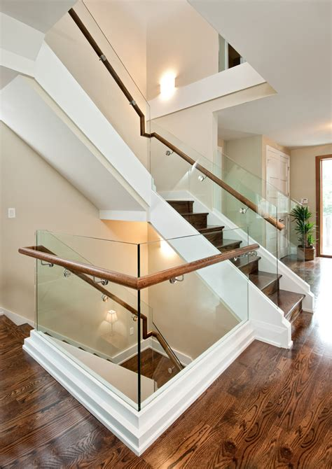 magnificent wood stair treads look ottawa contemporary