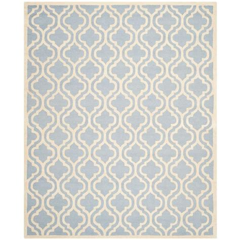Blue Area Rug 8 X 10 Safavieh Cambridge Light Blue Ivory 8 Ft X 10 Ft Area Rug Cam132a 8 The Home Depot
