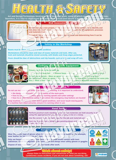safety for woodwork at school health safety design technology educational school posters