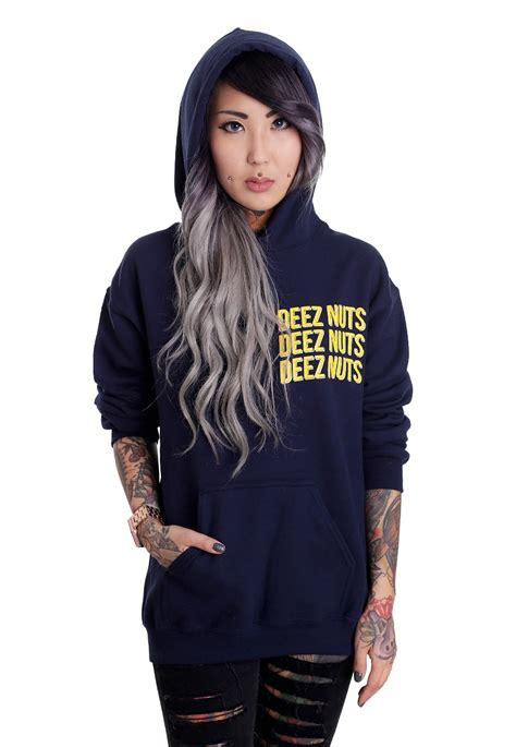 deez nuts tattoo deez nuts navy hoodie impericon
