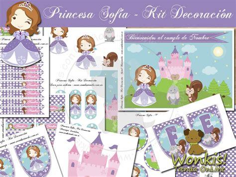 imagenes para decorar cumpleaños de la princesa sofia princesa sofia kit decoracion fiesta imprimible