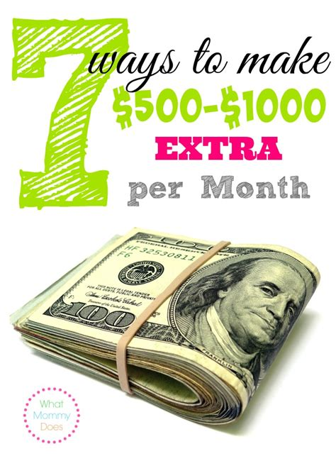 7 ways to make 500 1000 per month