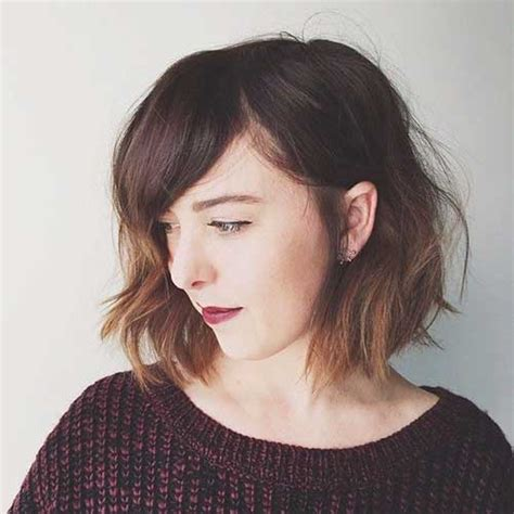 i like this cut with short bangs and longer lawyers right nice short bob haircuts with bangs short hairstyles 2017