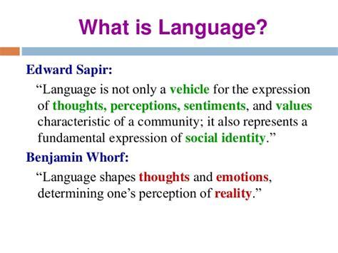 Of Language importance of language in communication