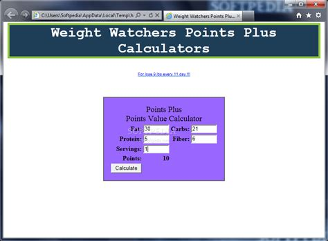 weight calculator to os x weight watchers points calculator 1 01 get from torrentfunk with image