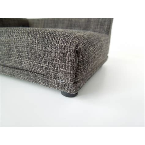 tweed couch modern dollhouse furniture m112 pods uno sofa in grey