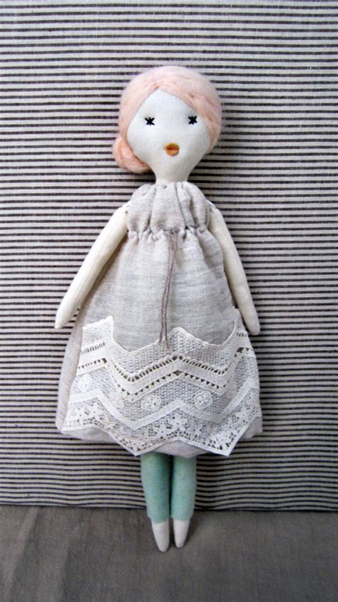 Cloth Dolls Handmade - cloth doll rag doll handmade retro one of a