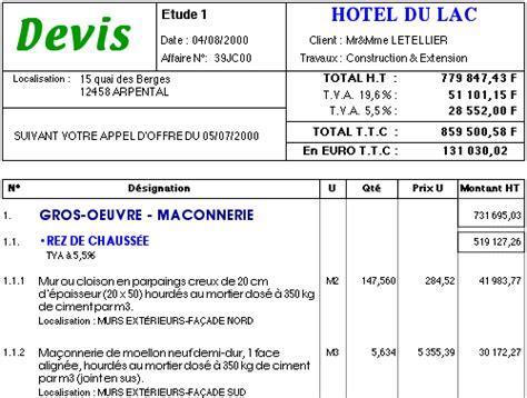 Exemple Devis Construction Maison Individuelle 2081 by Construction R 233 Novation Devis Travaux