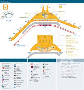 Terminal Map Chicago O Hare by O Hare Airport Terminal 5 Map
