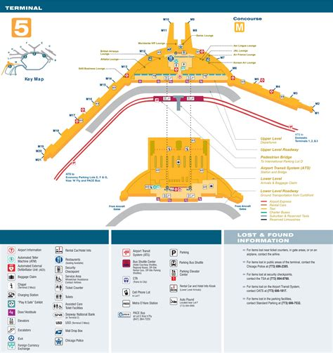 ohare airport map o hare airport terminal 5 map