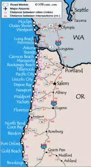 map of california oregon and washington oregon coast maps washington coast map