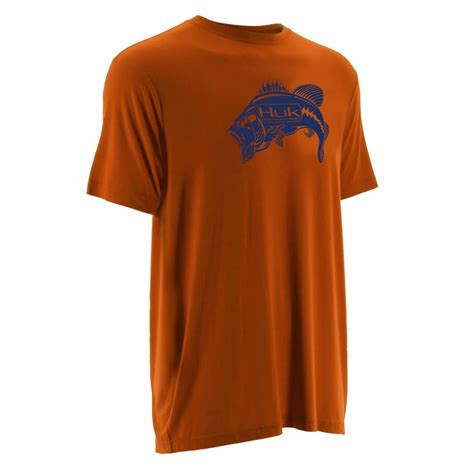 Ko T Shirt huk performance fishing huk bass ko t shirt orange