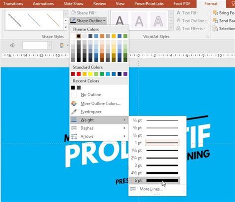 membuat teks outline menarik membuat slide yang menarik dengan menggunakan teks