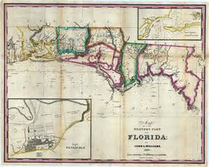 map of the western part of florida 1827 ad