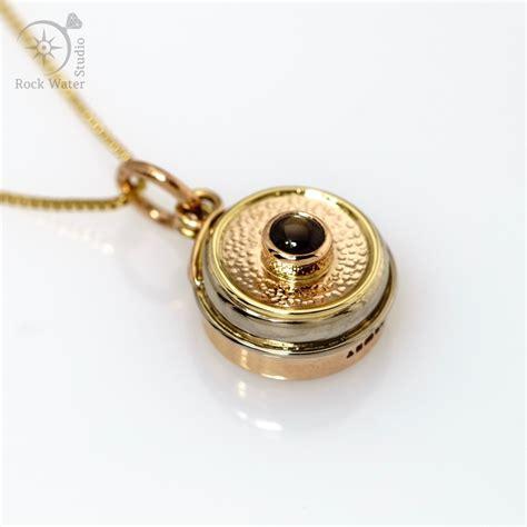Compass Necklace gold compass pendant