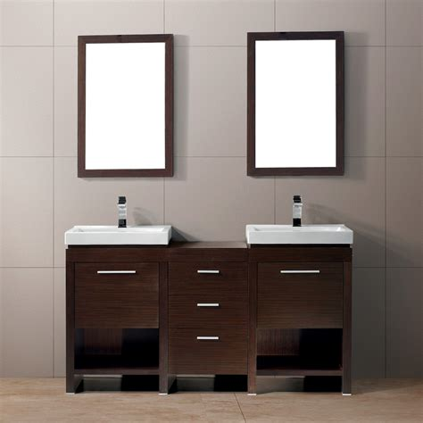 Two Vanities In Bathroom Vigo Adonia Bathroom Vanities Set Vigo Adonia Vanity Set With A Sink And Mirror