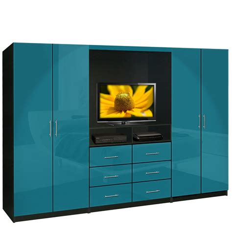 Wardrobe Closet Wall Unit Aventa Tv Wardrobe Wall Unit Free Standing Bedroom Tv