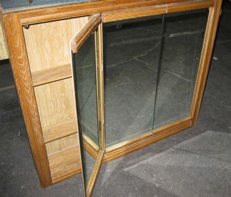 3 mirror medicine cabinet 3 door oak mirror medicine cabinet