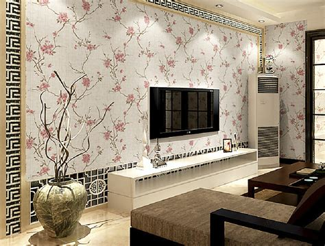 Wallpaper For Living Room Wall style wallpaper in living room tv background wall 3d house