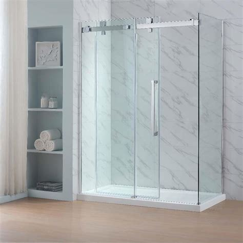 Ove Shower Doors Shop Ove Decors Glendale 78 75 In H X 30 375 In W Clear Shower Glass Panel At Lowes