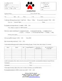 pet adoption application template blank pet adoption forms fill printable