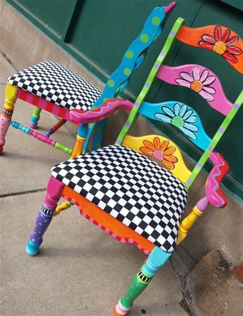painted chairs images funky furniture love the colors funky painted