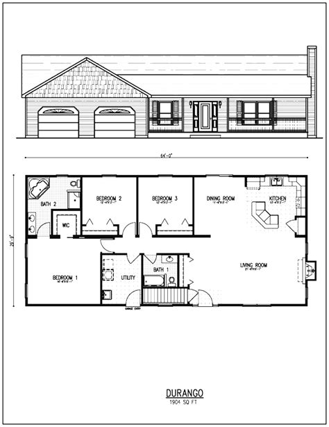 floor plans small houses ranch style home rancher house