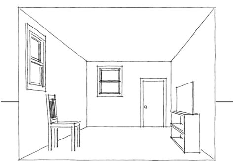 how to draw 3d rooms drawing a one point perspective room tutorial