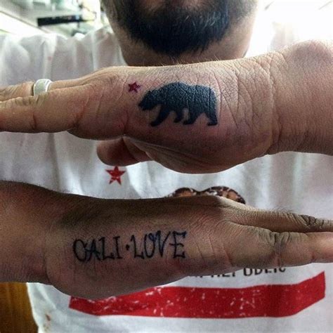 tattoo bear finger 80 california bear tattoo designs for men grizzly ink ideas