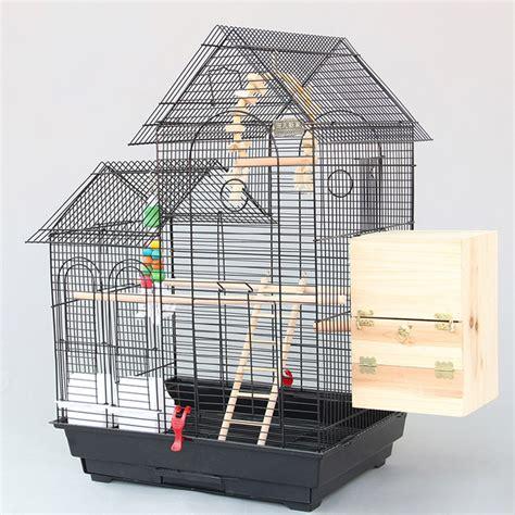large roof design bird cages houses metal iron parakeet cockatiel parrot cage birds aviary pet