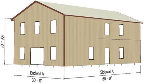 build shed walls plus floor twofeetfirst steel metal 2 floor home shell kit 2400 sq ft barn shed