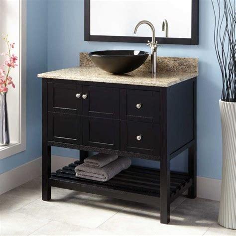 Black Bathroom Vanity With Vessel Sink 24 Quot Alvelo Vessel Sink Vanity Black Bathroom