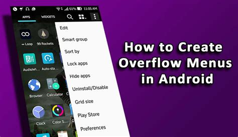 how to customize android how to create overflow menus in android uandblog