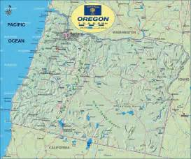 map of oregon united states usa map in the atlas of
