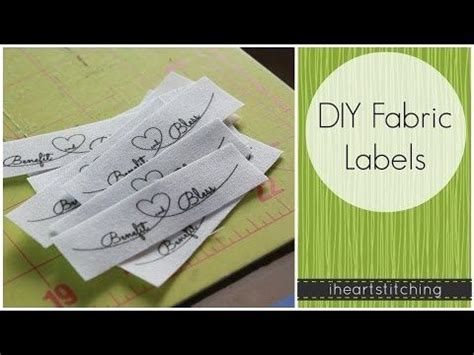fcg printable label fabric diy fabric labels youtube knitting pinterest