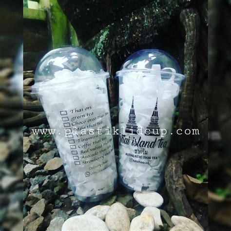 Plastik Tenteng Gelas Thai Tea jual sablon gelas plastik thai tea 22oz harga murah malang oleh cahaya plastik
