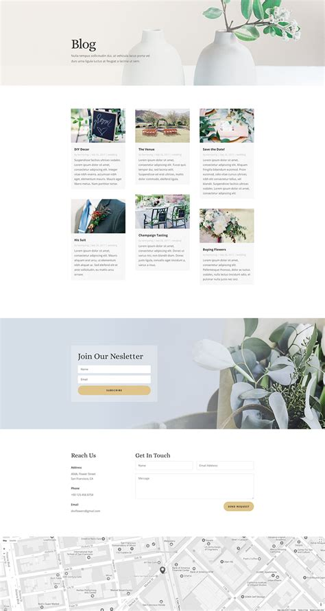 css layout workshop download the free and lovely florist layout pack for divi