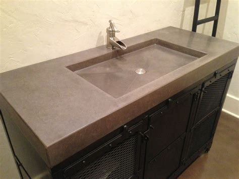 concrete counter tops contemporary vanity tops and